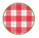 Christmas Paper Plates Dinner Tartan Red