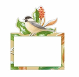 Christmas Place Cards Gold Birds