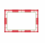 Christmas Place Cards Tartan Red