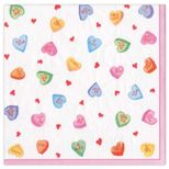Cocktail Napkins Candy Hearts