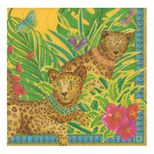 Cocktail Napkins Leopard Yellow