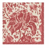 Cocktail Napkins Rustic Red