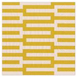 Cocktail Napkins Zipper Yellow