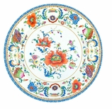 Dinner Plates Chinese Floral Blue & White