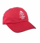 Keep Calm Cap Embroidered