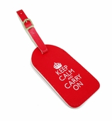 Keep Calm Luggage Tag Red