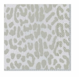 Lunch Napkins Cheetah Silver
