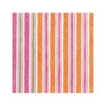 Lunch Napkins Stripe Pink