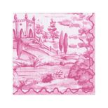 Lunch Napkins Toile Berry