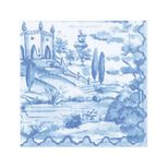 Lunch Napkins Toile Blue