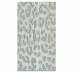 Paper Hand Towels Silver Cheetah