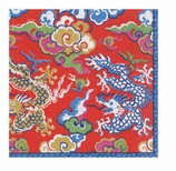 Paper Napkins Lunch Dragon Red