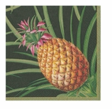 Paper Napkins Lunch Pineapple Black