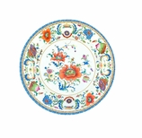 Salad Plates Chinese Floral Blue & White
