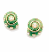 Shell Earrings Jade