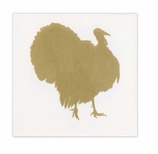 Thanksgiving Napkins Lunch Turkey Gold