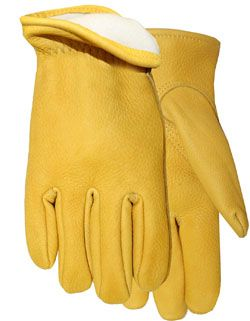 Midwest Glove #850TH Genuine Buckskin Thinsulate Lined Gloves - Made in the USA