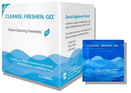 Cleanse Freshen Go Invisalign and Retainer Wipes
