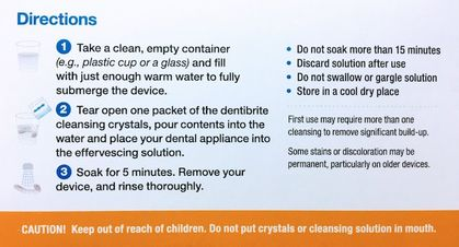 Dentibrite Cleaning Crystals for Retainers & Aligners - NEW