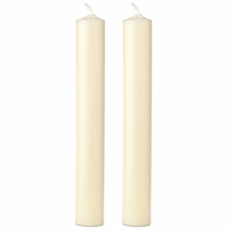 "7.5"" x 1"" Dia. Beeswax Altar Candles - Set of 2"