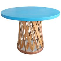 "39"" Round Painted Equipale Table - 4 Color Choices"