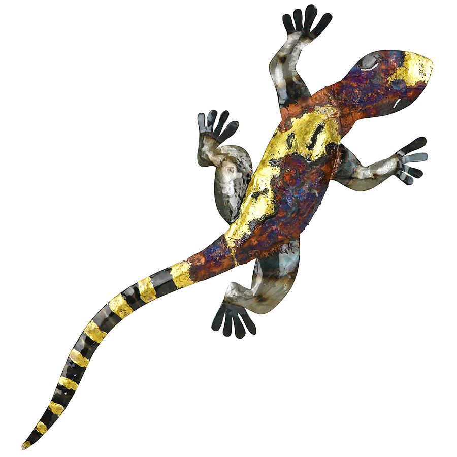 3D Metal Copper Gecko Wall Art -Extra Large