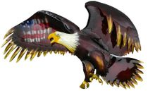 3D Metal Wall Art Bald Eagle with American Flag- Xtra Large