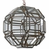 8-Sided Geometric Hanging Clear Glass Light Fixture - 12