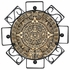 Aztec Sun Plaque with Iron Frame - 18