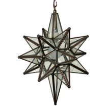 "Bubble Glass Moravian Star Light - 13"" Dia."