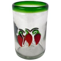 Chili Pepper Highball Glass - Set of 4 - Mexican Glassware