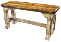 Double Seat Painted Wood Tractor Seat Bench - Double