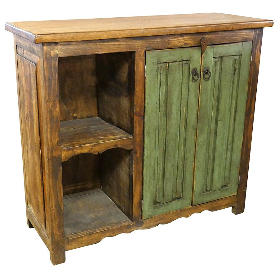 Green Door Rustic Old Fashioned Tv Console