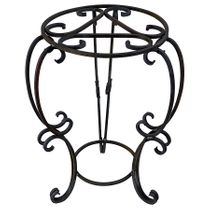 """Heavy Wrought Iron Plant Stand - Large - 25.5"""" H x 18"""" Dia."""
