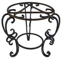 """Heavy Wrought Iron Plant Stand - Small - 18"""" H x 18"""" Dia."""