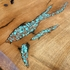 Mesquite Entry Table with Turquoise & Copper Inlay