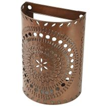 Mexican Aged Tin Wall Sconce Light Cover - Punched Tin