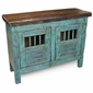 Mexican Painted Wood China Buffet - Turquoise