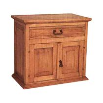 Mexican Pine Nightstand or TV Console - 2 Doors 1 Drawer