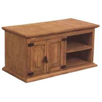 """Mexican Pine TV Console with 2 Doors and Shelves 46.5"""" W x 19.5"""" H"""