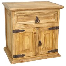 Mexican Furniture Double Door Nightstand