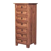 Mexican Rustic Pine 7 Drawer Dresser