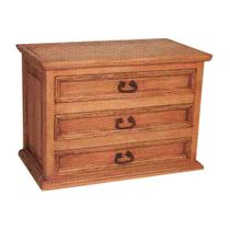 Mexican Rustic Pine Lowboy Dresser - 3 Drawers