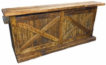 Old Fashioned Rustic Barn Door Bar - 8 Feet Long