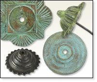 Patina Bronze Rosettes & Nail Heads