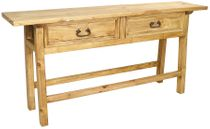 Mexican Pine Ranch Console Table with 2 Drawers