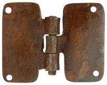 Rectangular Rustic Iron Hinges - Package of 8