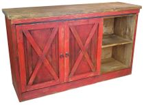 Mexican Red Barn Door Buffet