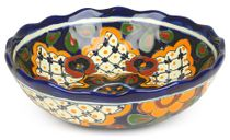 Round Scalloped Talavera Bowl