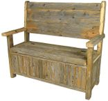Rustic Wood Benches, Trunks & Misc
